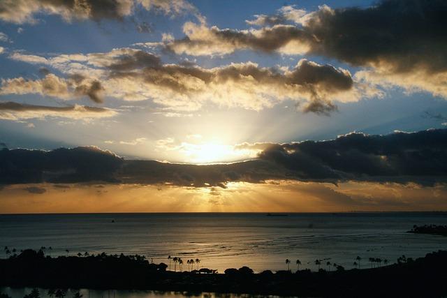 Sunset, Honolulu, Hawaii, Paradise, Vacation, Travel