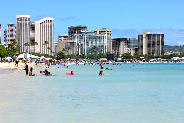 Waikiki, Sunny, Beach, Travel, Hawaii, Oahu, Honolulu