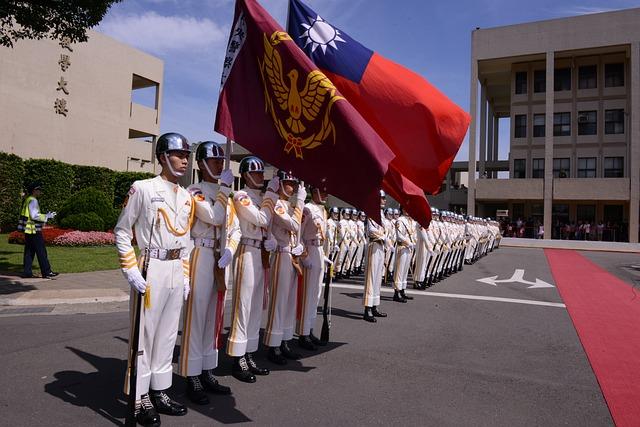 Taiwan, Police University, Flag, Honor Guard