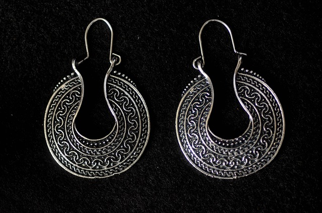 Hoops, Earrings, Silver, Filigree, Jewelry, Fashion