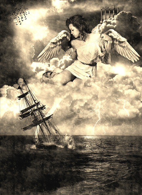 Sailing Vessel, Go Under, Drowning, Angel, Rescue, Hope