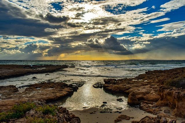 Beach, Sea, Waves, Horizon, Scenery, Sky, Clouds