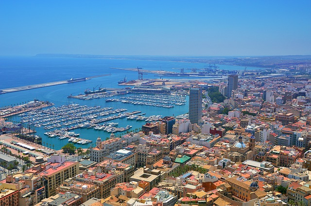 City, Cityscape, Sea, Panorama-like, Horizon