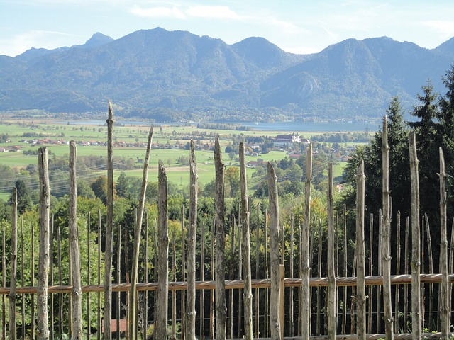 Fence, Builders Fence, Farm Museum, Mountains, Horizon