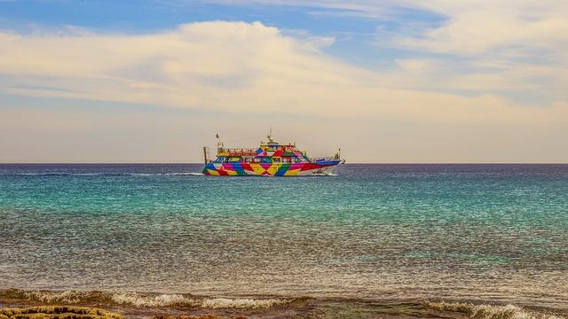 Boat, Sea, Horizon, Colorful, Cruise Boat, Vessel