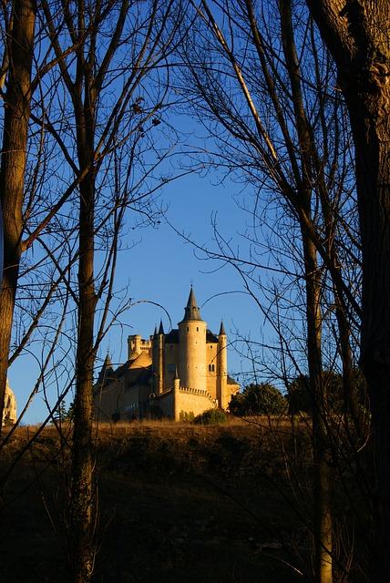 Alcazar, Sunset, Segovia, Horizon