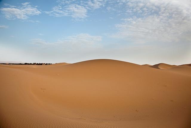 Sand, Desert, Landscape, Panoramic, Horizontal, Dune