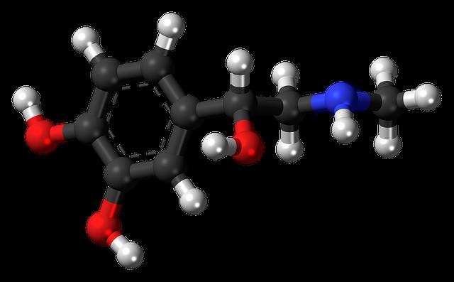 Adrenaline, Epinephrine, Hormone, Molecule, Model