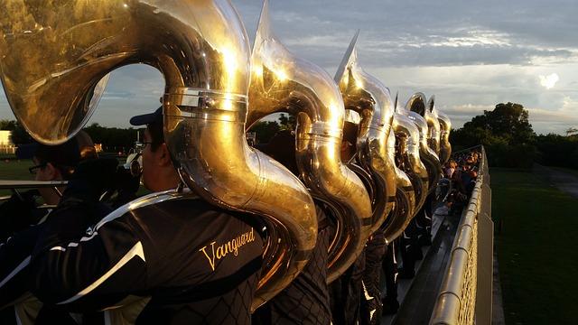 Music, Tuba, Instrument, Musical, Brass, Horn, Band