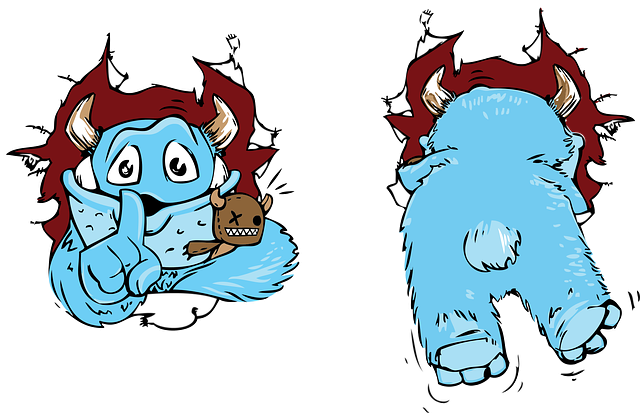 Monster, Cute, Shush, Fun, Fur, Fluffy, Adorable, Horns