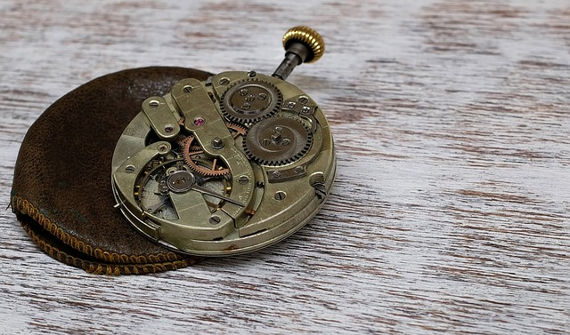 Clock, Pocket Watch, Movement, Horology, Old