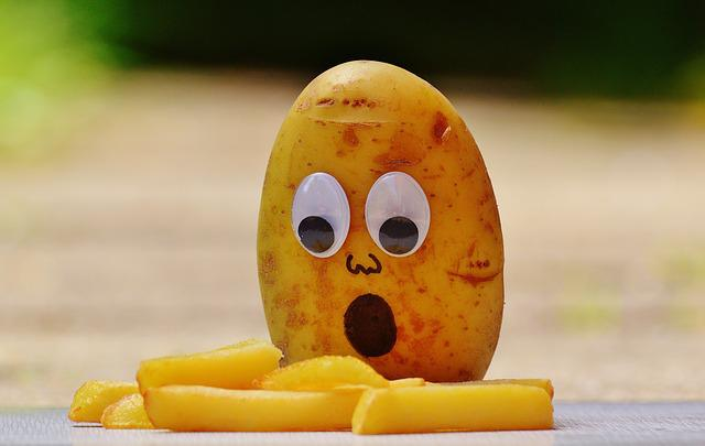 Potatoes, French, Mourning, Funny, Fun, Horrified, Eat