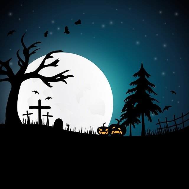 Halloween, Night, Creepy, Moonlight, Gloomy, Horror
