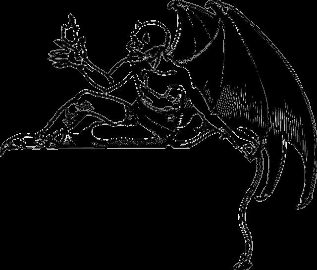Devil, Demon, Satan, Reclining, Evil, Wings, Horror
