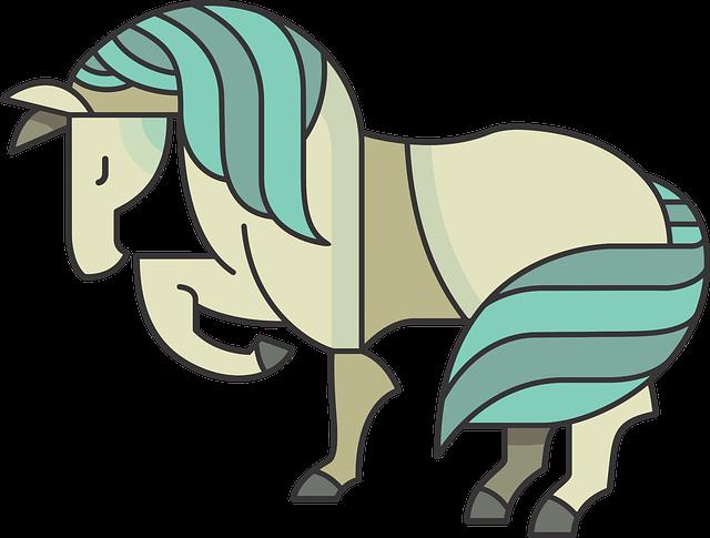 Animal, Cartoon, Comic, Equine, Horse