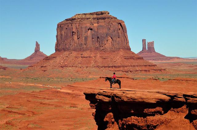 Usa, Nature, Desert, Sandstone, Horse, Jumper, Travel