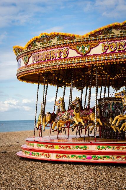 Carousel, Horse, Fun, Amusement, Ride, Vintage