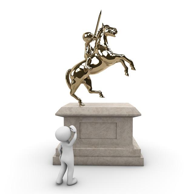 Monument, Reiter, Horse, Force, Globe, Metal, Sculpture