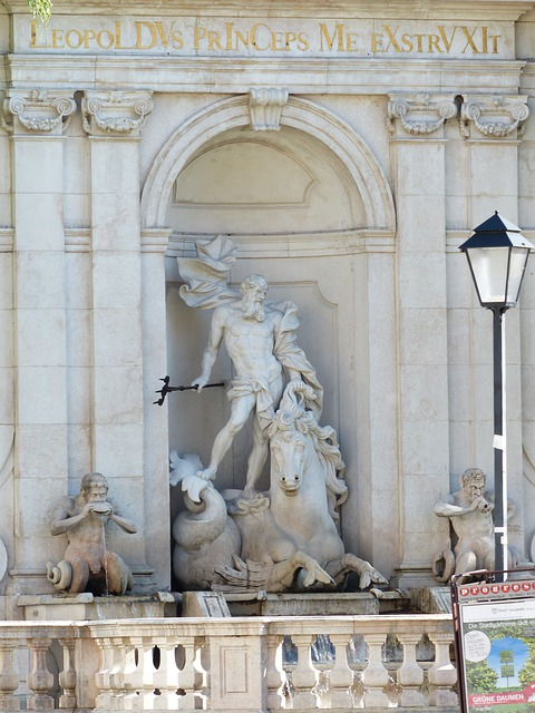 Fountain, Chapter Glut, Neptune, Meeresross, Horse Pond