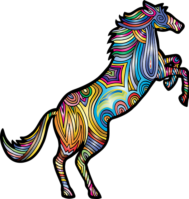 Horse, Animal, Colorful, Prismatic, Chromatic, Rainbow