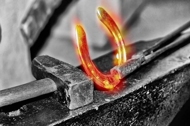 Horseshoe, Glow, Blacksmith, Luck, Horses, Hammer