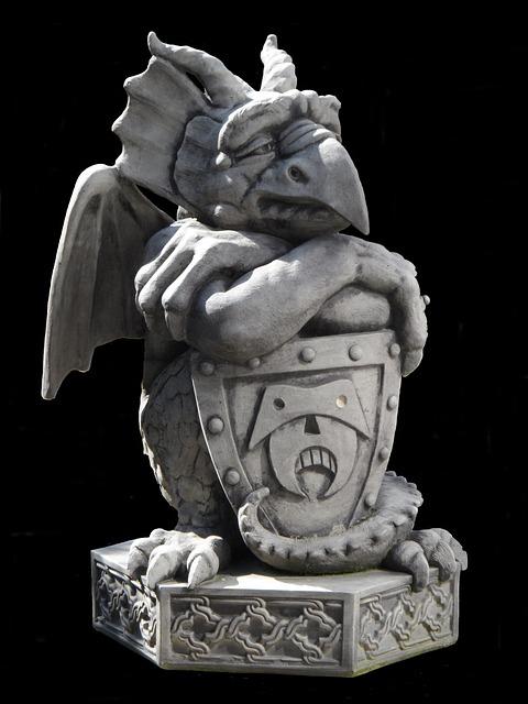 Sculpture, Gnome, Gargoyle, Dragon, Stone, Horticulture