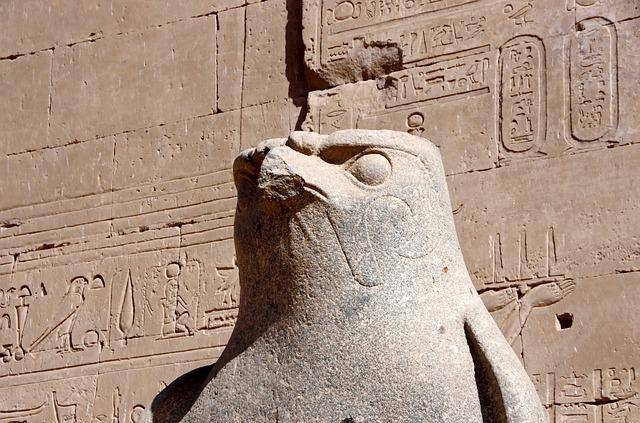 Egypt, Edfu, Temple, Divinity, Horus, Egyptian God, Art
