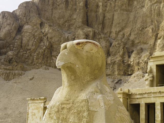 Horus, Temple, Sculpture, God, Falcon, Stone, War God