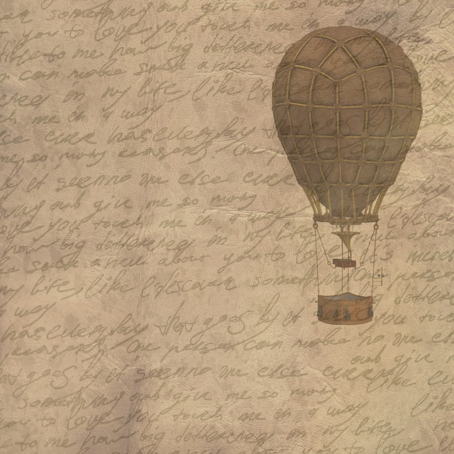 Background, Vintage, Hot Air Balloon, Script