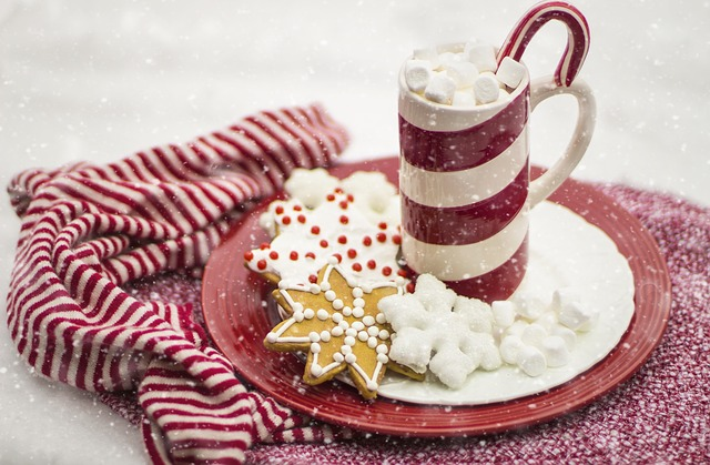 Candy Cane, Hot Chocolate, Cocoa, Christmas, Holiday
