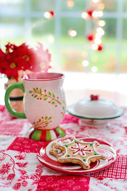 Christmas, Cookies, Hot Chocolate, Hot Cocoa, Red