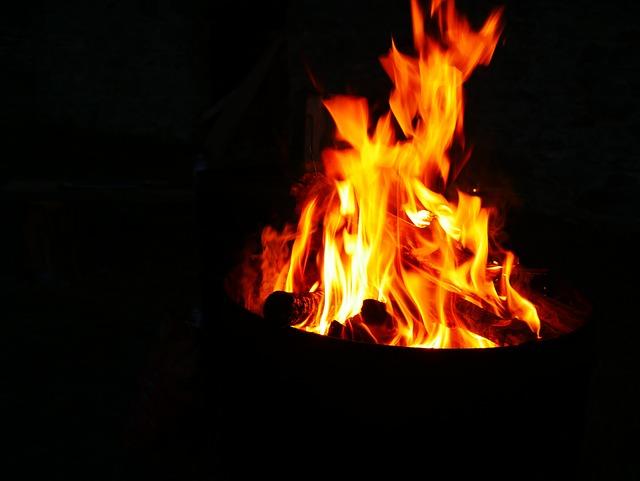 Fire, Flame, Flames, Heat, Glow, Hot, Light, Dark