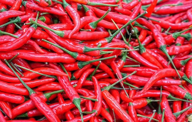 Red, Hot, Chili, Food, Spice, Vegetable, Cayenne
