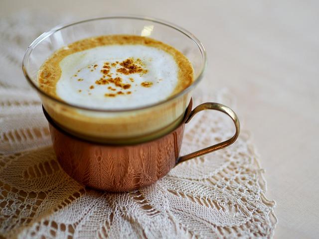 Hot, Drink, Cream, Cup, Golden Milk, Turmeric Latte