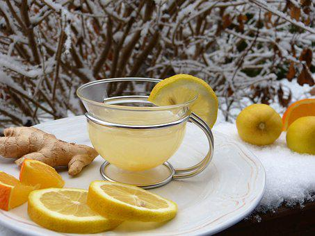 Ginger, Lemon, Orange, Snow, Hot Lemon, Juice, Tee