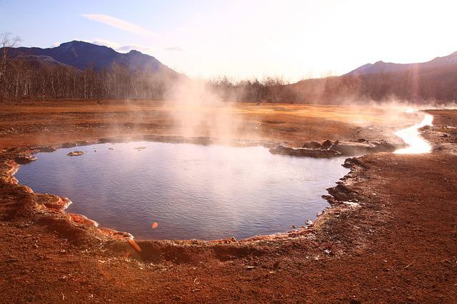 Hot Spring, Forest, Mountains, Boiling Water, Silence