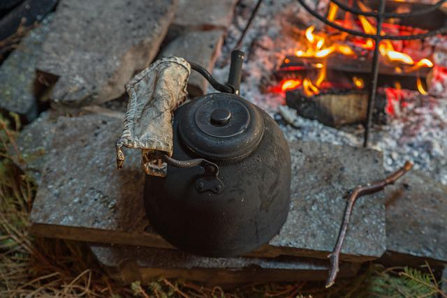 Coffee, Fire, Pot, Sweden, Fjäll, Hot, Coffee Drink