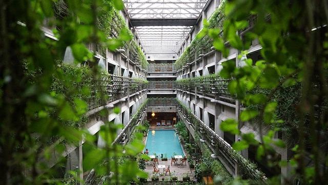 Hotel, Architecture, Modern, Design, Building, White