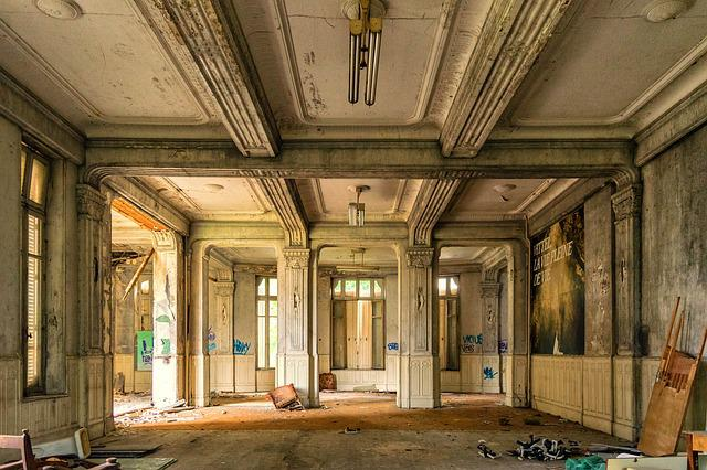 Hall, Space, Lost Places, Hotel, Luxury, Reception