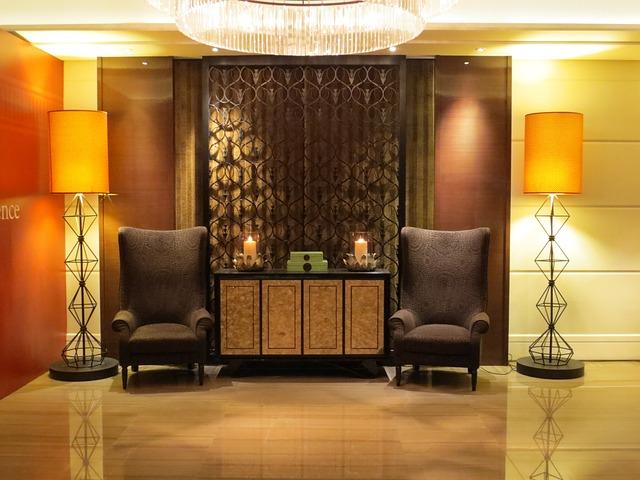 Hotel Lobby, Interior Design, Decor