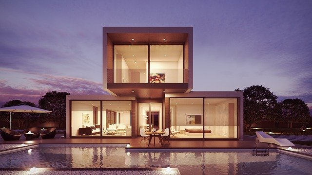 House, Pool, Interior Design, Architecture, 3d, Design