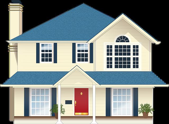House, Residence, Blue