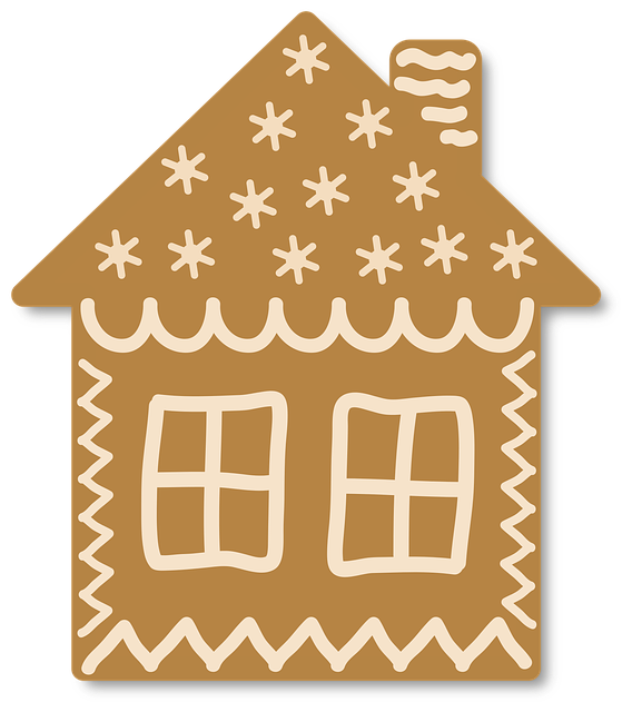 Gingerbread, House, Christmas, Ornament