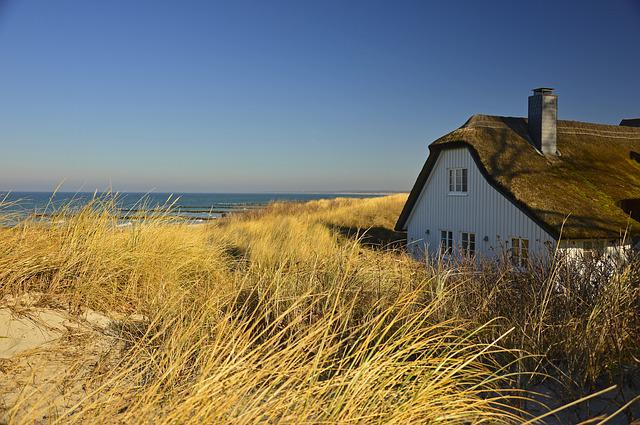 House, Thatched Cottage, Dune, Dune Landscape, Coast