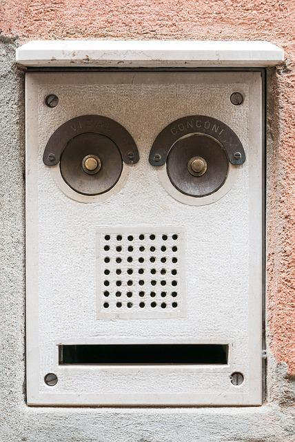 Mailbox, Bell, House Entrance, Face