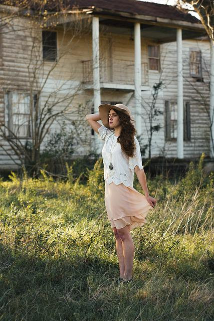 Abandoned, Beautiful, Building, Fashion, Girl, House