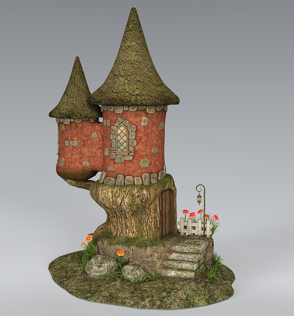 House, Troll, Towers, Stairs, Architecture, Gradually