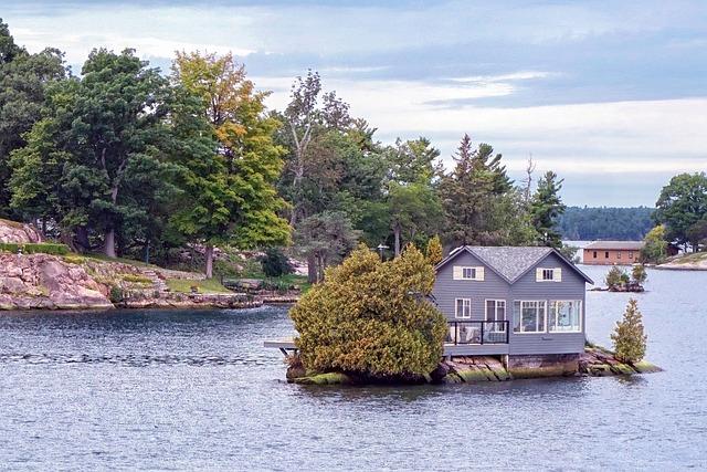House, Home, Residence, Island, Tiny, Isolated, Camp