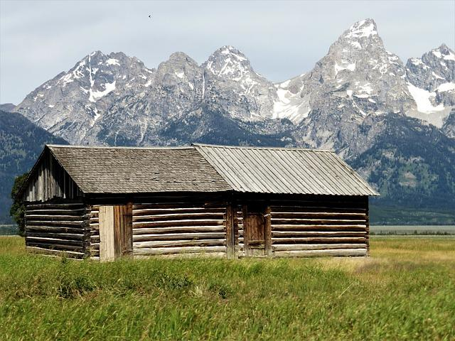Building, Usa, Park, Grange, House, Wood, Old House