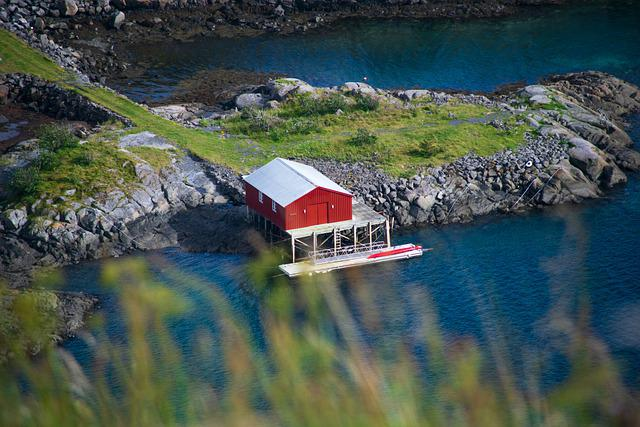 House, Sea, Fisherman's House, Pier, Bridge, Rocks